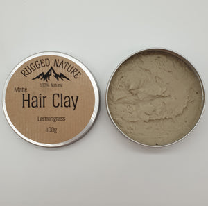 lemongrass hair clay rugged nature