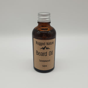 sandalwood beard oil rugged nature