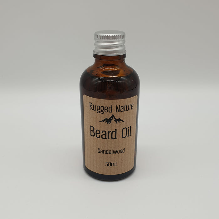 Sandalwood Beard Oil 50ml - Rugged Nature