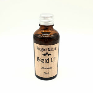 Cedarwood beard oil 50ml rugged nature