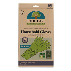 If you care household rubber gloves medium