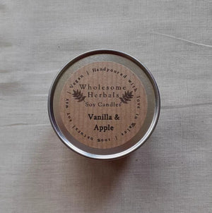 Vanilla & Apple Soy Candle Wholesome Herbals