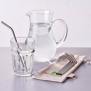 Stainless steel straw set ecoliving