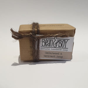 Cedarwood & vertiver soap bean & boy