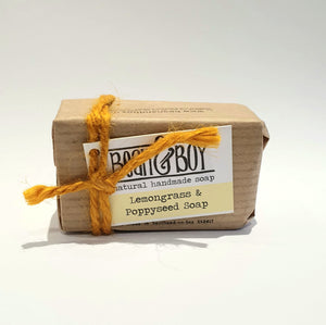 Bean & boy lemongrass & poppyseed soap