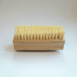 Natural wooden vegan nail brush