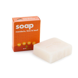 Lime basil & mandarin vegan soap ecoliving