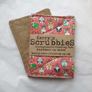 Scrubbies washing up pads christmas animals