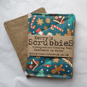 Scrubbies washing up pads gingerbread man