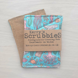 Scrubbies washing up pads sea creatures