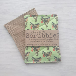 Scrubbies Washing up pads birds