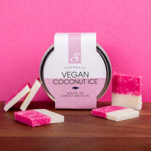 Vegan coconut ice fudge tiles sweet lounge