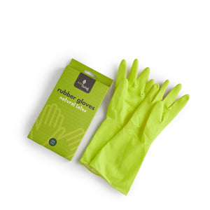 Ecoliving natural latex rubber gloves green