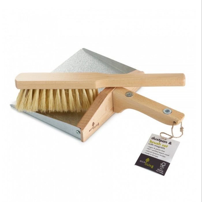 ecoLiving Dustpan and Brush Set with Magnets