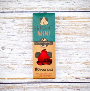 Fetch It Mini compostable poo bags 80 bags