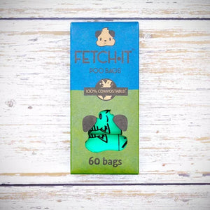Fetch-it compostable poo bags 60 bags
