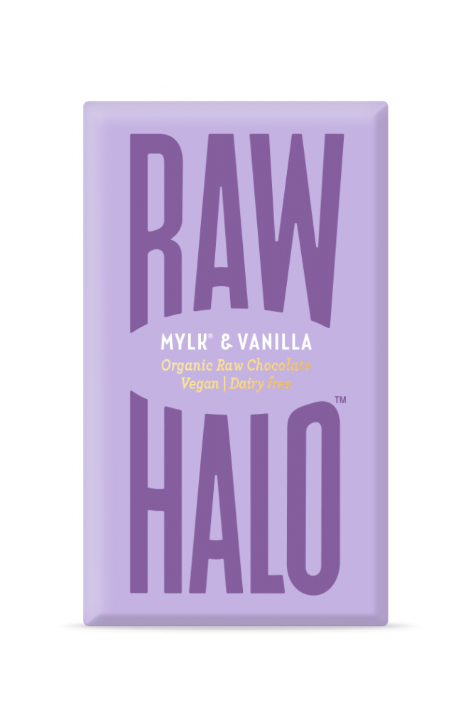 Raw Halo Organic Vegan Chocolate - Mylk & Vanilla 22g
