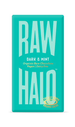 Raw Halo Organic Vegan Chocolate Dark & Mint 35g