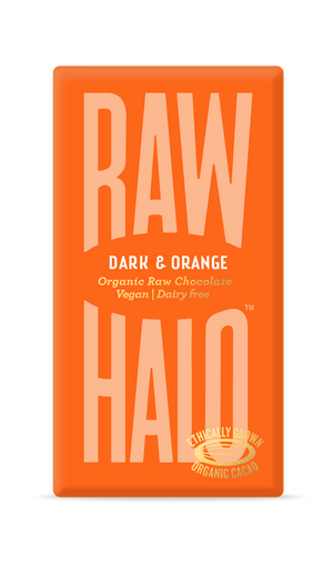 Raw Halo Organic Vegan Chocolate Dark & Orange 35g