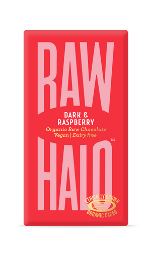 Raw Halo Organic Vegan Chocolate Dark & Raspberry 35g