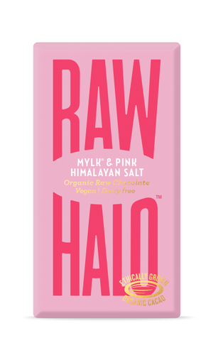 Raw Halo Organic Vegan Chocolate Mylk & Pink Himalayan Salt 35g