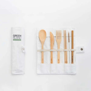 Green Island Bamboo Cutlery Set