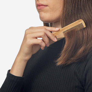 Bamboo Hair Comb Travel Size Zero waste club