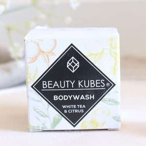 White tea & citrus body wash beauty kubes