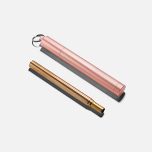 Rose gold collapsible straw