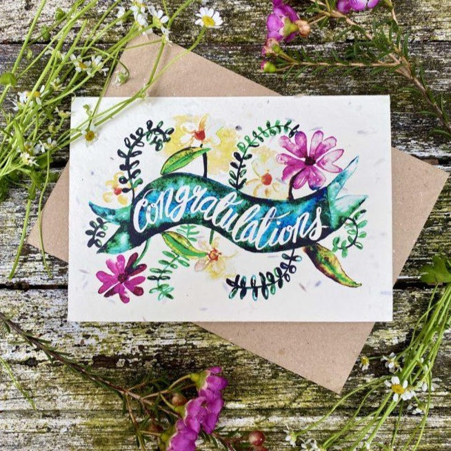 Loop Loop Congratulations Plantable Card