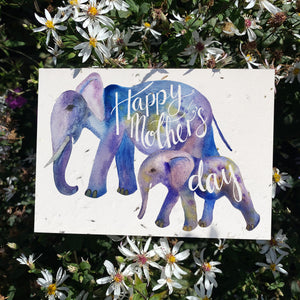 Loop Loop Mother's Day Elephant Plantable Card