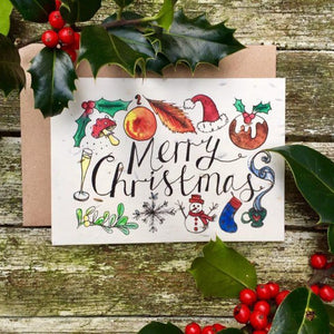 Loop Loop plantable christmas card merry christmas
