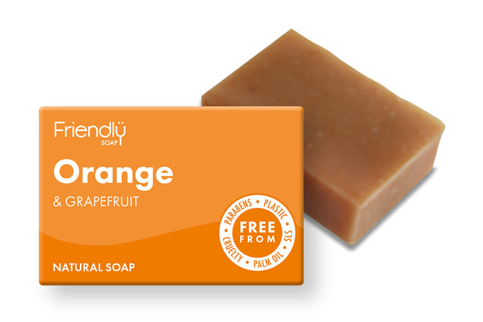 Orange & Grapefruit Natural Soap - Friendly Soap - 95g