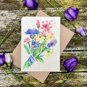 Bunch Flowers Seeded Plantable Card Loop Loop
