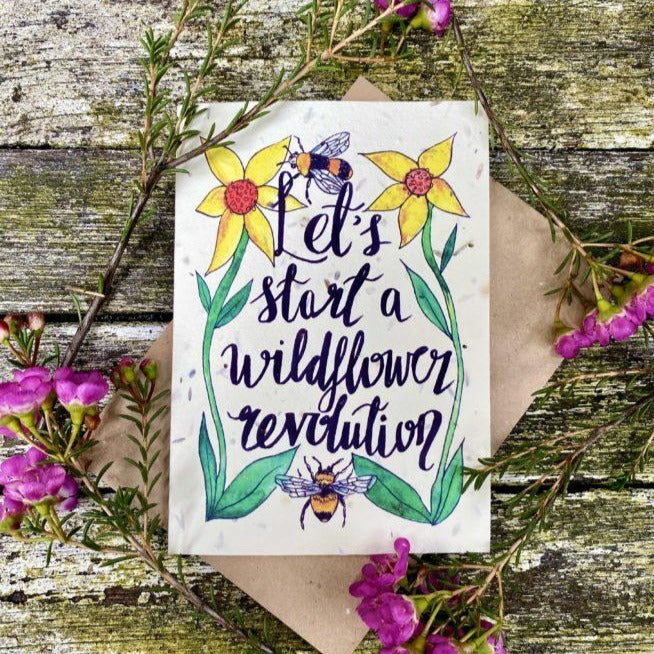 Wildflower Revolution - Plantable Seeded Card - Loop Loop