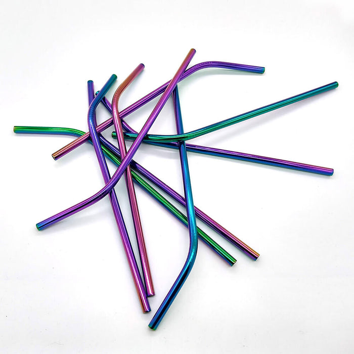 Rainbow Stainless Steel Drinking Straw x 1