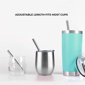 zero waste club collapsible metal straw silver