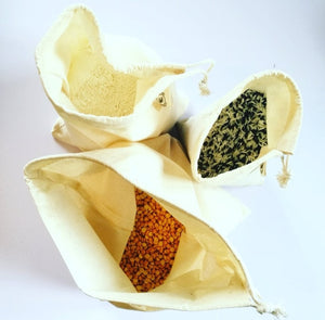 Organic Cotton Cloth Produce Bags