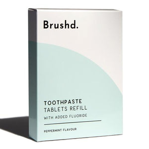 Toothpaste Tablets With Fluoride Refill Pack Brushd.