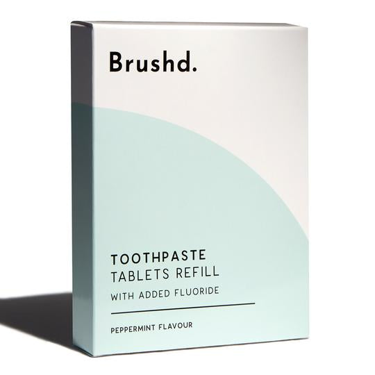 Toothpaste Tablets (With Fluoride) Refill Pack - Brushd.