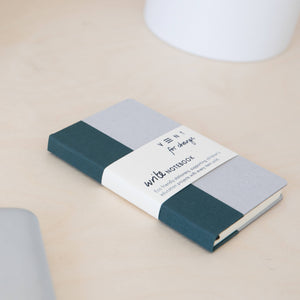 vent for change a6 pocket notebook plain paper green