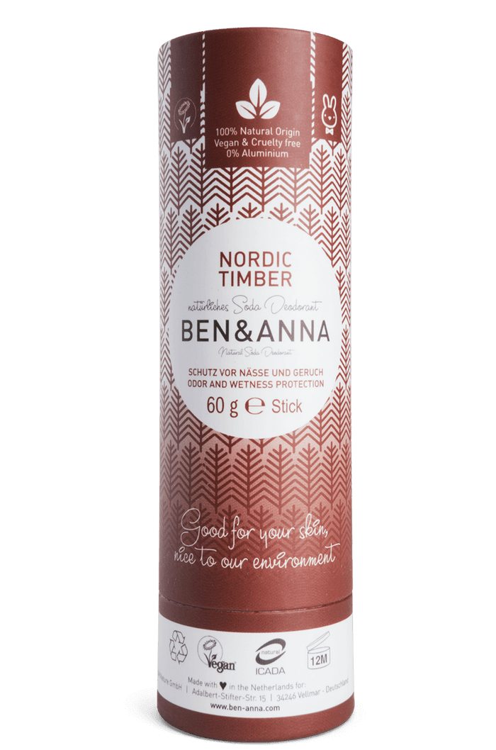 Natural Soda Deodorant - Nordic Timber  - Ben & Anna - 60g
