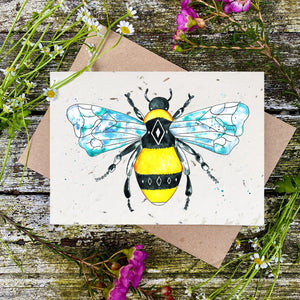 Loop Loop Geometric Bee Plantable Card