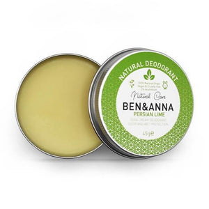 Persian lime natural deodorant tin ben and anna
