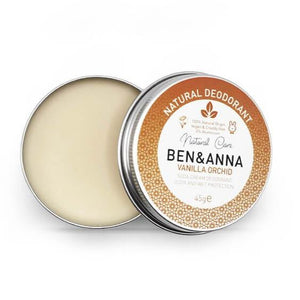 Vanilla Orchid Natural deodorant tin ben and anna