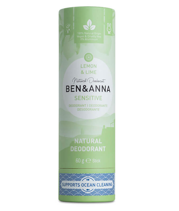 Sensitive Deodorant - Lemon & Lime - Ben & Anna - 60g