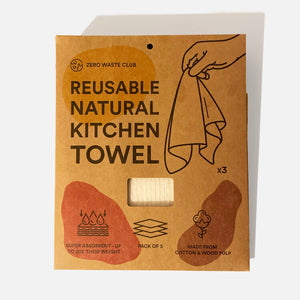 Reusable Natural Kitchen Towels Zero Waste Club