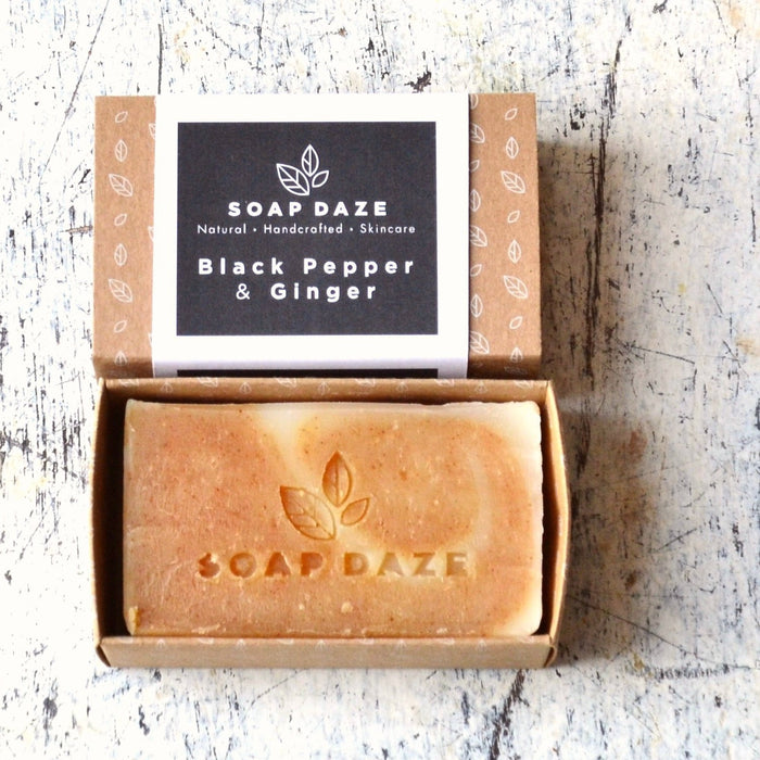 Vegan Soap Bar - Black Pepper & Ginger - 112g