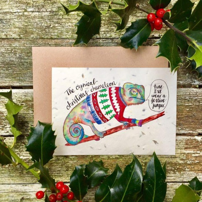 Chameleon Plantable Christmas Card - Loop Loop