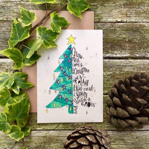 Loop Loop Plantable christmas tree card